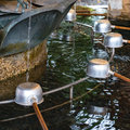 Chozuya purification fountain. Japanese culture Royalty Free Stock Photo