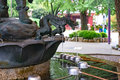 Chozuya purification fountain. Japanese Shinto shrine Royalty Free Stock Photo