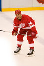 Chris chelios dos detroit red wings Foto de Stock Royalty Free