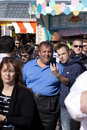 Chris christie governor of new jersey tourist get a cellphone picture with as he greets visitor on the wildwood boardwalk to Royalty Free Stock Images