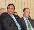 Chris christie and tom kean new jersey governor a former two term republican governor of the garden state both former Stock Photo