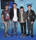 Chris Colfer, Cory Monteith, Mark Salling Royalty Free Stock Photo