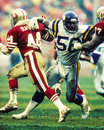 Chris doleman minnesota vikings lb former image taken from color slide Royalty Free Stock Photo