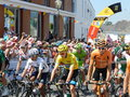 Chris froome team sky th tour de france day starting line st gildas des bois brittany france tuesday th july yellow jersey Stock Photo