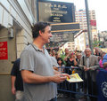 Chris noth on broadway. Royalty Free Stock Images