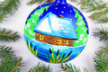 Chrismas ball christmas tree balls beautiful new year decoration Stock Photo