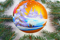 Chrismas ball christmas tree balls beautiful new year decoration Royalty Free Stock Photography