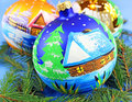 Chrismas balls christmas tree beautiful new year decoration Royalty Free Stock Photos
