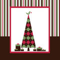 Chrismas Card Series - Brown Royalty Free Stock Photo