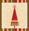 Chrismas Card Series - Red Royalty Free Stock Photo
