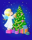 Chrismas cute angel Stock Photo