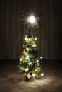 Chrismas Tree with Sparkles Royalty Free Stock Photography