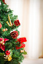 Chrismas tree winter decoration Royalty Free Stock Images