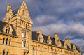 Christ church college oxford university the ornate architecture of against a stormy sky england uk Stock Image