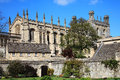 Christ church college oxford university in oxfordshire was founded in by thomas cardinal wolsey as cardinal and after his Stock Photo