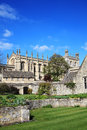 Christ church college oxford university in oxfordshire was founded in by thomas cardinal wolsey as cardinal and after his Royalty Free Stock Photo