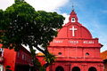 Christ church melaka dutch was built in at the historic city of malaysia Stock Photography