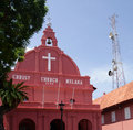 Christ church melaka at the stadhuys heart of the historical district of malacca malaysia Royalty Free Stock Photo