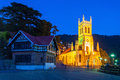 Christ church shimla in is the second oldest in north india Royalty Free Stock Photo