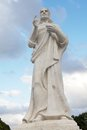 Christ of havana the is a large sculpture reprresenting jesus nazareth on a hilltop overlooking the bay in cuba it is Stock Images