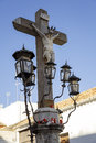 Christ of the lanterns in cordoba spain Royalty Free Stock Image
