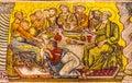 Christ Last Supper Mosaic Dome Bapistry Saint John Florence Ital Royalty Free Stock Photo