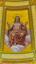 Christ Mosaic Dome Saint Stephens Cathedral Budapest Hungary Royalty Free Stock Photo