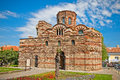 The christ pantocrator curch in nessebar bulgaria is dated back th th century Stock Photos