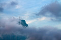 Christ the redeemer in clouds rio de janeiro brazil Royalty Free Stock Photos