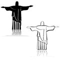 Christ the redeemer concept illustration showing an icon depicting famous statue from rio de janeiro brazil Stock Images