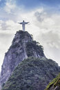 Christ the redeemer in rio de janeiro brazil Royalty Free Stock Photo