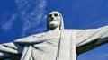 Christ redeemer statue corcovado rio de janeiro landmark located on the peak of mount in brazil Royalty Free Stock Photo