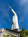 Christ the redeemer statue in rio of on mountain top de janeiro brazil built between and Royalty Free Stock Photos