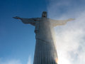 Christ the redeemer statue in rio of on mountain top de janeiro brazil built between and Stock Images