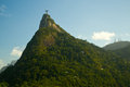 Christ the redeemer on top of the corcovado mountain rio de janeiro brazil Stock Images
