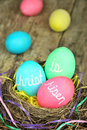 Christ is Risen Easter eggs Stock Images