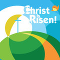 Christ is risen easter greeting card Stock Images