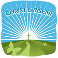Christ is risen greeting card spring sunshine Royalty Free Stock Images