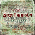 Christ is risen religious words on grunge background high res abstract background for your project Royalty Free Stock Images