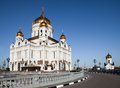 Christ the savior cathedral in moscow photo of russia Stock Image