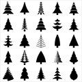 Christamas tree silhouette design. Vector. Royalty Free Stock Image