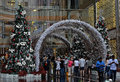 Christams a photo of some people at the entrance of pavilion mall in kuala lumpur malaysia people with different conditions some Stock Image