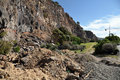 Christchurch Earthquake - Sumner Cliffs Collapse Royalty Free Stock Photography