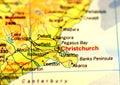 Christchurch Map