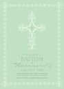 Christening, Baptism, First Communion, Confirmation Invitation template Royalty Free Stock Photo