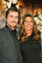 Christian bale and wife at the world premiere of warner bros batman begins chinese theater hollywood ca Royalty Free Stock Photography
