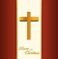 Christian or catholic merry christmas card illustration design Stock Photo