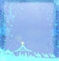 Christian Christmas nativity scene of baby Jesus Royalty Free Stock Photo
