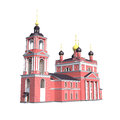 Christian church isolated d model of the orthodox Royalty Free Stock Photo