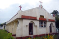Christian church at Tonga Royalty Free Stock Photos
